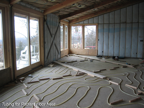 Tubing for Radiant Floor Heat